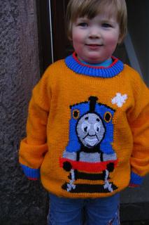Thomas Knitting Pattern : Ravelry: Thomas the Tank Engine Sweater pattern by Alan ...