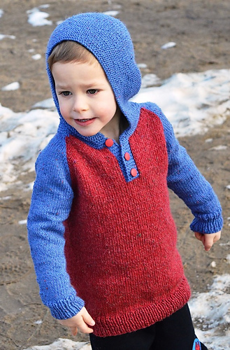 Kids Henley Hoodie Pdf At Fiberwild Knitting Yarns Needles