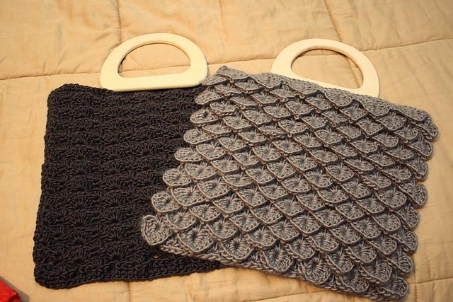 Free Crochet Pattern Crocodile Stitch Bag : Crocodile Stitch Bag Free Crochet Patterns