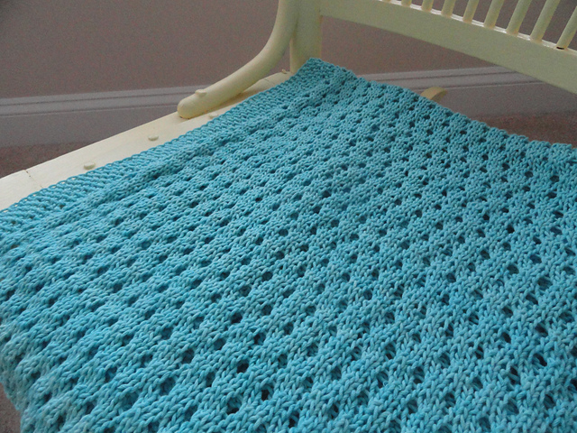 the knitty professors: Nine Months of Knitting: Connect Four Baby Blanket