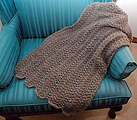 Feather and Fan Scarf or Stole PDF