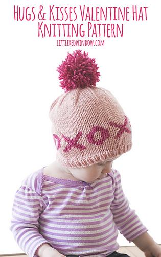 Ravelry: XOXO Hugs & Kisses Valentine Hat pattern by ...