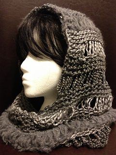 Hooded Cowl Knitting Pattern Ravelry : Ravelry: Loom Knit Changes Hooded Cowl pattern by Charity Windham