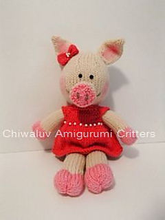 Chiwaluv Amigurumi Critters Blog : Ravelry: Pig Squealina pattern by Chiwaluv Amigurumi Critters