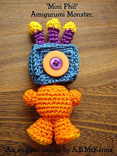 Ravelry: Mini Phil amigurumi monster pattern by ABMcKenna
