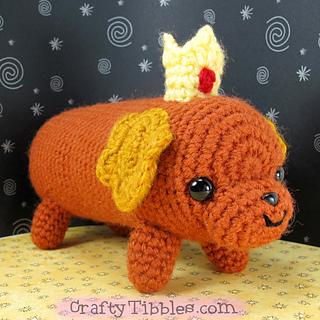 Amigurumi Hot Dog : Ravelry: Hot Dog Princess Crochet Amigurumi pattern by ...