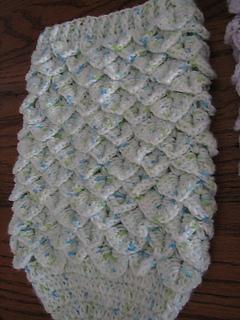 Ravelry Crocodile Stitch Newborn Baby Cocoon Pattern By