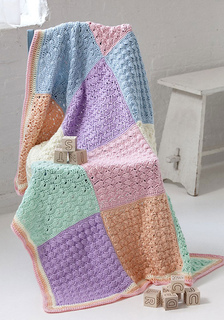 Ravelry: Sampler Squares Baby Blanket pattern by Deb Richey