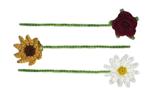 Ravelry: Flower Bookmarks pattern by Rachel Choi
