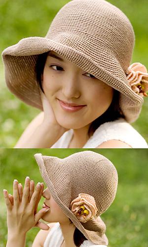 Summer hat pierrot yarn