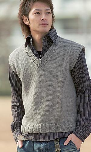 Knitting Pattern Men s Sweater Vest : Ravelry: 26-5 Cotton Neat Vest pattern by Pierrot (Gosyo ...