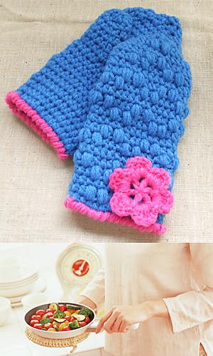 Pierrot Yarn Free Crochet Patterns : Ravelry: 28-574N Oven Mitt pattern by Pierrot (Gosyo Co., Ltd)