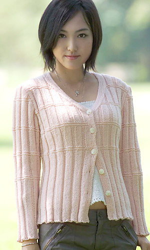 Knitting Patterns Ladies Summer Cardigans : Ravelry: 26-27-15 Cardigan pattern by Pierrot (Gosyo Co., Ltd)