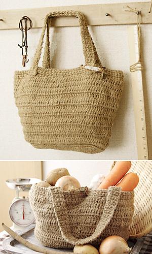 Pierrot Yarn Free Crochet Patterns : Ravelry: Kenaf Market Bag pattern by Pierrot (Gosyo Co., Ltd)