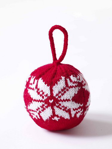Fair Isle Snowflake Ornament by Lion Brand Yarn