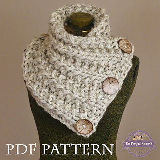 Knitting Pattern For Small Neck Scarf : Ravelry: THE LANCASTER SCARF pattern by Bo Peeps Bonnets