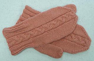 Ravelry: Camel Cabled Mittens pattern by Darlene Joyce