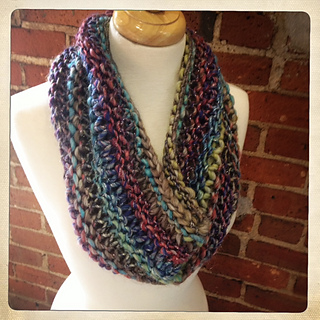 Knitting Pattern Cowl Size 13 : Ravelry: Darn Knit Kinetic Cowl pattern by Carly Stipe