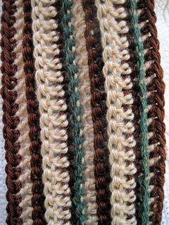 Chunky_stripe_scarf_tan_brown_green_closeup_small2