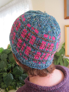 Tweedy_plaid_beanie_turq_br_pink_on_k_1_small2