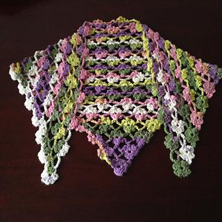 Ravelry: Crochet Flower Lattice Shawl pattern by Debi Dearest