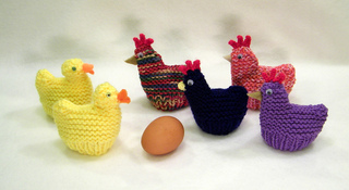 Easter Chick Knitting Pattern Instructions : Ravelry: Chicken and Duck Egg Cozies (Easter) pattern by ...