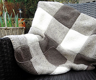 Ravelry Blanket Square Diagonal Garter Stitch Pattern By