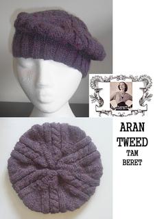 Irish Beret Knitting Pattern : Ravelry: Aran Tweed Tam. Beret. pattern by Audrey Wilson