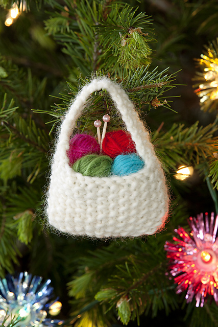 Yarn Basket Ornament by Scarlet Taylor