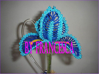 Free Crochet Pattern For Iris Flower : Ravelry: Flower IRIS pattern by Francesca Isernia