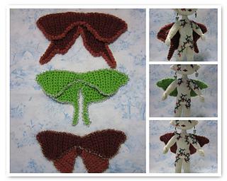 Free Crochet Pattern For Butterfly Wings : Ravelry: Grace Note Butterfly Wings pattern by Beth Ann Webber