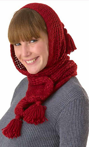 Ravelry: Cozy Hooded Scarf pattern by Brenda Myers