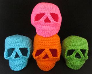 Free Amigurumi Skull Pattern : Ravelry: Day of the Dead Skull - Amigurumi Style pattern ...