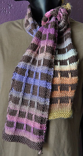 Ravelry: Mochi Plus Mock Plaid Scarf pattern by Susan Druding