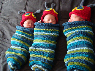 Ravelry: Hungry Caterpillar Baby Cocoon and Hat pattern by Angie Hartley