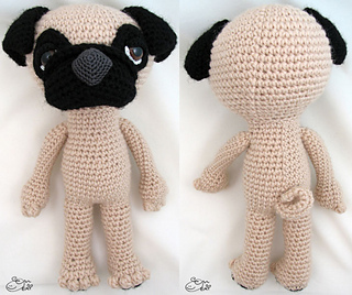 Ravelry: Sleepy Eye Dog - PUG pattern by Enna Design