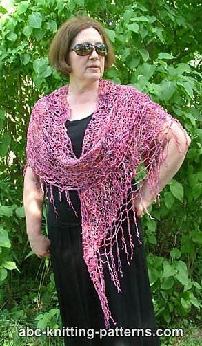Ravelry: Two-Hour Shawl with Beaded Fringe pattern by Elaine Phillips