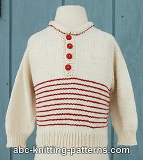 Ravelry: Raglan Cotton Baby Sweater with Stripes pattern by Elaine Phillips