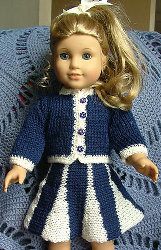 Craft Passions Doll Suit With Godet Skirt Size 18inch Doll Free