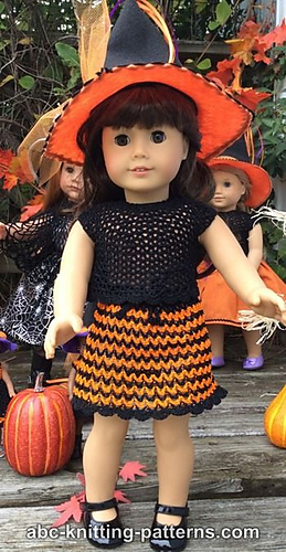 Free Knitting Pattern Witch Doll : Ravelry: American Girl Doll Halloween Skirt and Top ...