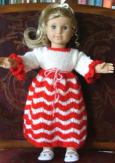 Ravelry: American Girl Doll Candy Cane Dress pattern by ...