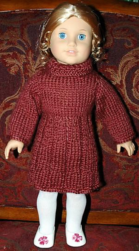 Knitting Patterns American Girl Doll Clothes Free : Ravelry: American Girl Doll Dress pattern by Elaine Phillips