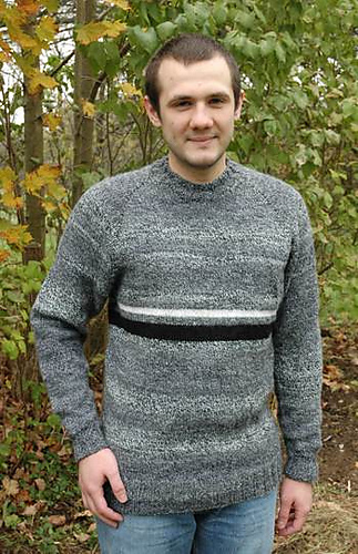 Ravelry: Mens Top Down Raglan Sweater pattern by Elaine Phillips