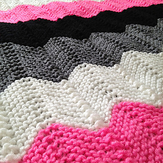 Ravelry: Knitted Chevron (Ripple) Afghan pattern by Laura Mosier