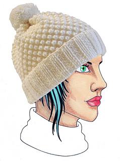 ravelry bonnet boule de neige pattern by elodie wegeler. Black Bedroom Furniture Sets. Home Design Ideas