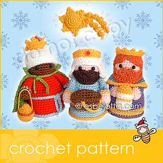 Ravelry: Nativity Set - Three Wise Men pattern by Barbara ...