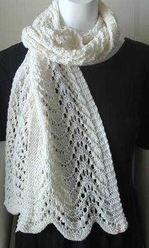 Ripple Lace Knitting Pattern : Ravelry: Ripple Scarf in Merino 5 pattern by Susan Druding