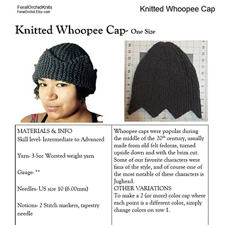 Knitting Pattern Jughead Hat : Ravelry: Knitted Whoopee Cap (The Jughead Hat) pattern by ...