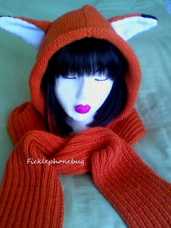 Knitting Pattern For Scarf With Hood And Pockets : Ravelry: Kitty Hood Scarf with Pockets pattern by Cat Morley