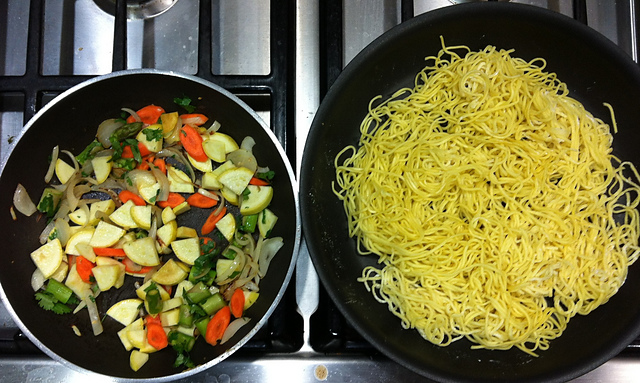 Veggies & Pan Fried Noodles
